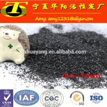 Coconut shell granular activated carbon for power plant water pretreatment