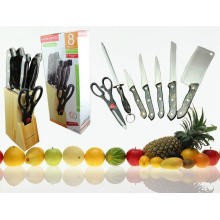 7PCS colorido plástico lidar com faca de cozinha Set (SE-3570)