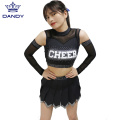 Schwarze All-Star-Cheer-Uniformen