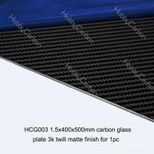 Folha matte do carbono da placa do carbono da sarja do zangão de FPV 1.5x400x500mm do FPV para cortar