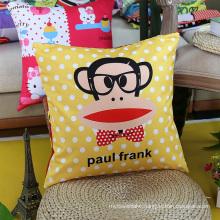 100% Cotton Square Pillow for Home Decoration