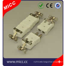 K type ceramic connectors with clamp/ceramic type k thermocouple connectors male and female