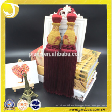 2016 moda decorativa artesanal de algodón cortina borla