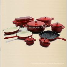 9PCS эмаль чугунной посуды набор поставщиков из Китая