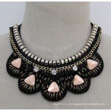 Moda feminina charme de cristal colar gargantilha robusto (je0131)