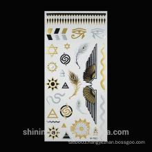 2016 New Temporary Metallic gold foil water transfer jewelry fashion tattoo sticker