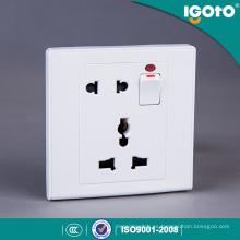 Igoto UK Standard 1gang Switch + 2pin y 3pin Mf Socket para el hogar