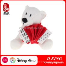 Brinquedo do luxuoso do urso polar das Multi-Poses dos presentes da promoção