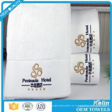 Personalizado 30 * 30 35 * 75 70 * 140 100% algodón blanco hotel conjunto de toallas