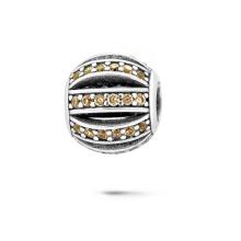 La plata 925 rebordea las pulseras europeas rebordea la joyería de la CZ