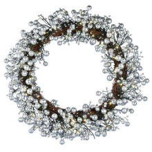 24 po. Golden Starlite Creations Wreath with Batteris Fonctionnant avec 48 LED (MY255.259.00)