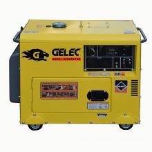 Одобренный CE однофазный 5 кВА молчание дизельного генератора цена