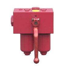 Ensemble de boîtier de filtre à pression d'huile de lubrification duplex