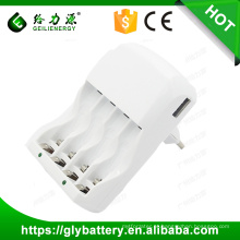 GLE-903 AA / AAA Bateria Recarregável Super Quick Carregador fabricado na China