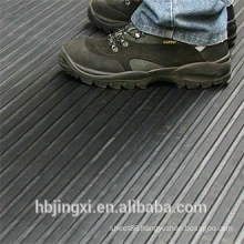 Grey Thin Or Wide Ribbed Insulation Rubber Sheet