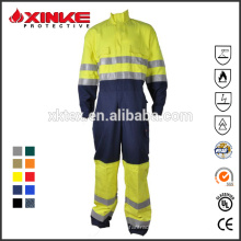 Roupas de proteção à prova de fogo de algodão e nylon para trabalhador industrial