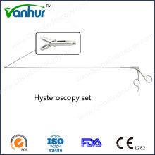 Hysteroskopie / Uteroskop Set Starre Biopsie Zange