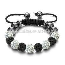 Bracelets réglables en gros bracelet en cristal autrichien Shamballa