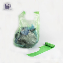 Cheap clear vest type plastic garbage bags
