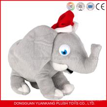 Presente de Natal de pelúcia e brinquedos de elefante recheado com orelhas grandes