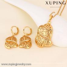 Pendente e brinco da forma da jóia 61367-Xuping com o ouro 18K chapeado
