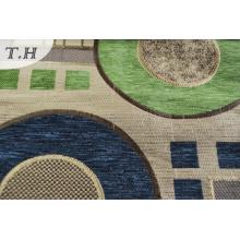 Tissu de meubles en chenille gemotrique pour l'Amérique du Sud