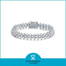 Bracelet à perles en argent sterling 925 en argent sterling bon marché (SH-B-0007)