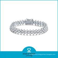2016 Latest Fashion Silver Micro Pave Bracelet (B-0007)