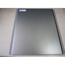 Панель ПВХ с горячим переносом - Серебристо-серый