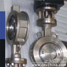 Stainless Steel Bare Shaft Half Lug Wafer Butterfly Valve