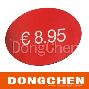 Custom Printed Price Tag for Watch/Bag/Garment/Cloth/Shoe