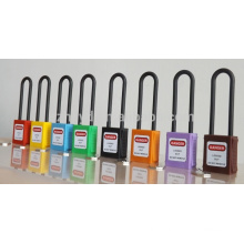 CE certificated long shackle abs safety padlock