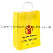 Papel promocional promocional impreso Kraft papel de publicidad