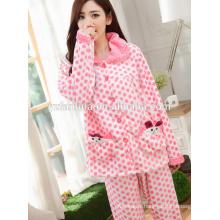 vêtements chauds pyjama d'hiver pour femmes