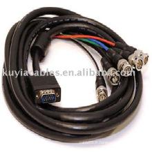 5M 15 broches VGA à 5 connecteurs BNC Câble M / Mfor Sécurité CCTV