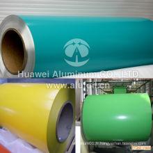 Bobine en aluminium recouverte de couleurs pour la décoration