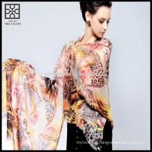 Bufanda de seda de moda impresa