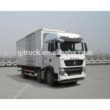6X2 drive Sinotruk HOWO van truck / HOWO van box truck / HOWO van cargo truck / HOWO cargo box truck para carga y transporte 20T