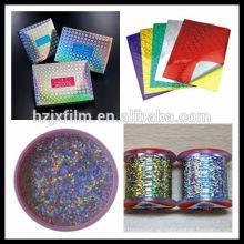 Transparente holographische Laminierfolie / Farblaminierfolie / Kaltlaminierfolie