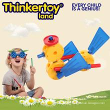 Jouets intellectuels de modèle de canard pour les connecteurs de construction plastique de 3 à 6 enfants