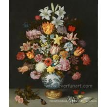 Pintura moderna pintada a mano de la alta calidad de la flor