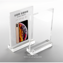 Customized acrylic tabletop iphone sign display holder