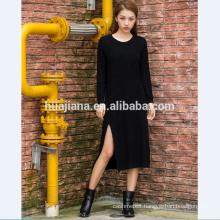 woman's cashmere knitting cheongsam dress