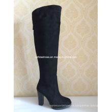 OEM Comfort Elegant High Heels Mulheres botas de inverno