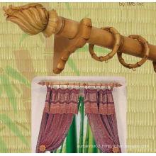 Kitchen Window Single Bamboo Wood Curtain Rod Set
