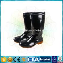 pvc cheap black rain shoes
