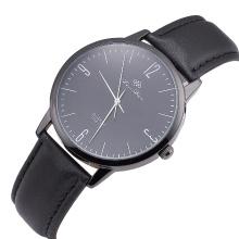 Melhor Relógios feitos sob encomenda do couro genuíno do homem do logotipo do tipo de quartzo