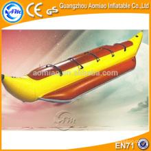 5 pessoas assentos infláveis do barco, barco de banana do vôo do PVC de 0.9mm