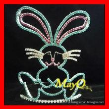 Big rhinestone coelho tiara coroa para a Páscoa, tamanhos disponíveis