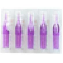 50pcs Transparent Tattoo Tips Flat Round Diamant jetable bretelles courtes Purple